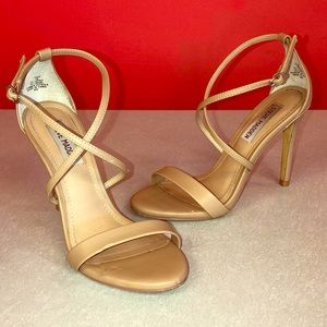 "Steve Madden 4"" nude heels."